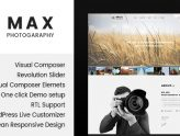 Max Photograpy - WordPress Theme for Photographers (Photography)