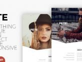 Pete - Creative & Clean Portfolio WordPress Theme (Creative)
