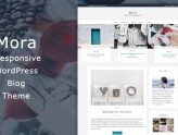 Mora - Responsive WordPress Blog Theme (Blog / Magazine)
