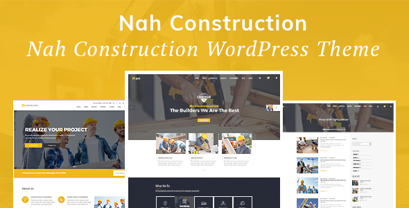 Nah Construction, Building Business WordPress Theme (Business)
