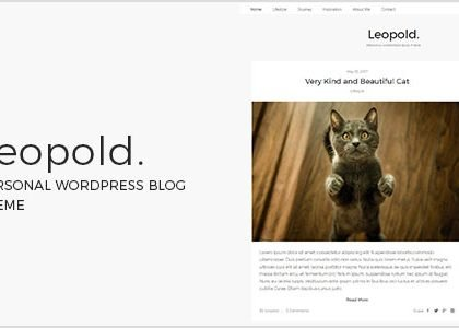 Leopold - Personal WordPress Blog Theme (Personal)