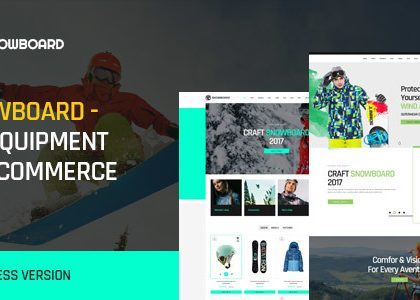 Snowboard - Ski Equipment WooCommerce WordPress Theme (WooCommerce)