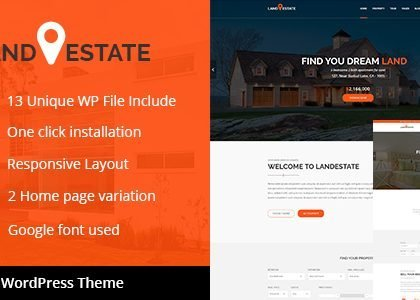 Land Estate - Real Estate/Single Property WordPress Theme (Real Estate)